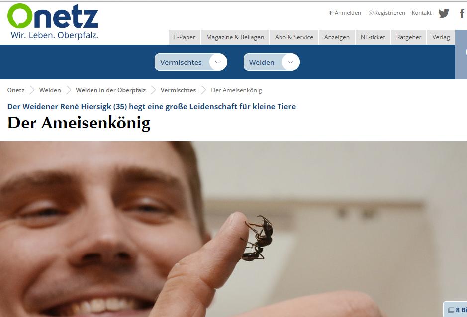 Bericht über René Hiersigk auf onetz.de