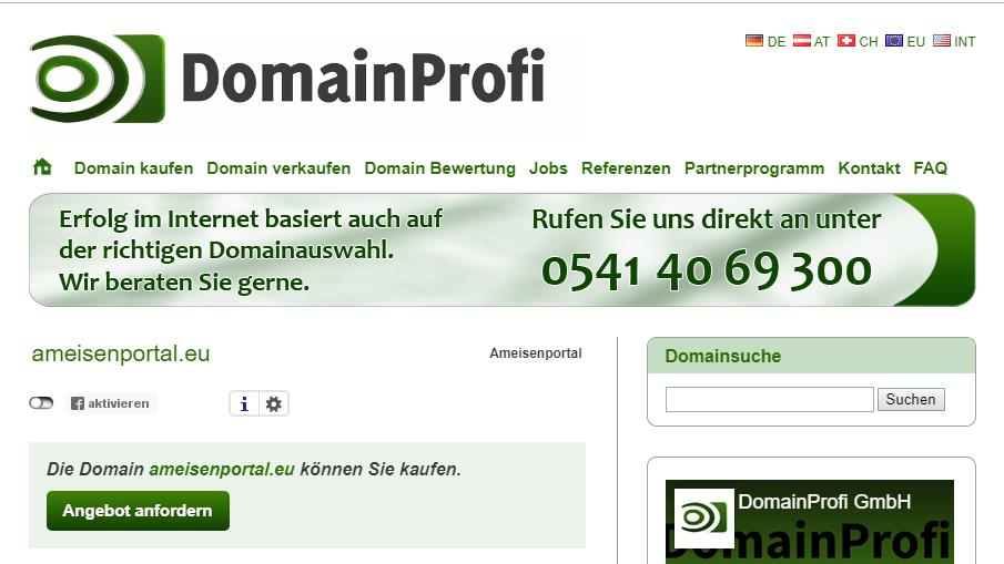 Ameisenportal: Verlorene Domain und anderer Murks