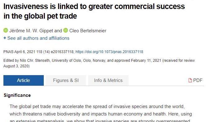 Forderung nach Regulierung des Handels mit exotischen Tieren (auch Ameisen)